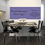 Whiteboardfolie Whiteboard Weißwandtafeln Schreibtafeln - selbstklebend inkl. Boardmarker 150x60 -lavender-