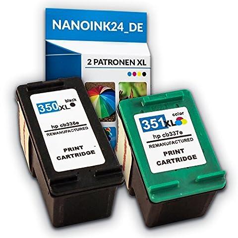 2x Kompatible Tintenpatronen HP 350 XL + 351 XL I
