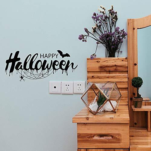 Wandaufkleber Happy Halloween Fledermäuse Spinne Wandaufkleber Fenster Dekoration Aufkleber Dekor Adesivos de parede