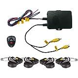 Sistema de Control de Presión de Neumáticos TPMS salida de vídeo receptor de pantalla sobre soporte de DVD para Coche Alta Baja Presión Alarma de temperatura (hkt8821V2i)