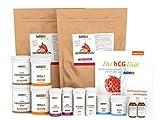 hCG Diät / 21 Tage Stoffwechselkur - 60 Tage Megapaket mit hormonfreien hCG Globuli und Diätprotein SPEZIAL in Spitzenqualität (Diätprotein SPEZIAL Erdbeere, 42 Tage Diät + 18 Tage gratis)