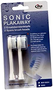 IBP B-091 Sonic Toothbrush Replacement Heads (Twin Pack)