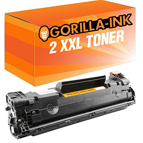Laserjet 1100-serie (Gorilla-Ink 2X Laser-Toner XXL Black kompatibel mit HP CE285A Laserjet Professional P 1100 Series 1102 1102 W 1103 1104 1104 W 1216 NFH MFP 1217 NFW MFP)