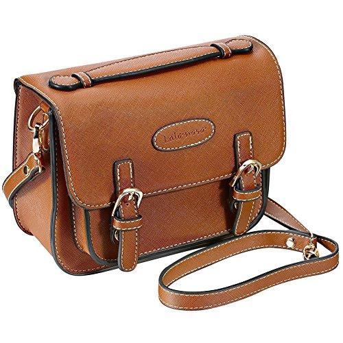 Mini 8 Sofortbildkamera Zubehör Fall – lalonovo Retro Vintage PU Leder Tasche für Fujifilm Instax Mini 8/Mini 7s/Mini 25/Mini 50s/Mini 90/Instant Film Kamera mit Schultergurt