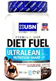 USN Diet Fuel Ultralean Weight Control Meal Replacement Shake Powder, Chocolate - 1 kg