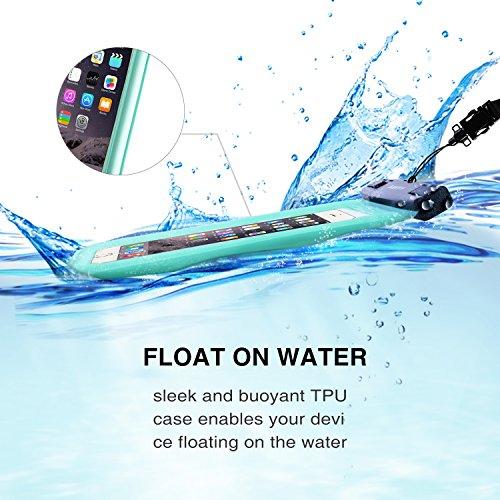 SAVFY® Custodia Impermeabile Galleggiante, Custodia Cellulare Impermeabile Universale 7 Pollici Waterproof Cover Case Impermeabile per iPhone 7 / 7plus/ SE / 6 / 6s plus, Galaxy S6 / S6 Edge, Galaxy S Verde