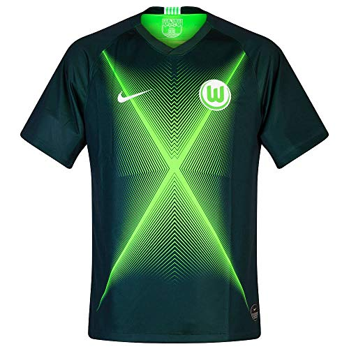 Nike Herren VFLW M NK BRT STAD JSY SS HM Football T-Shirt, pro Green Strike/White no Sponsor, S -