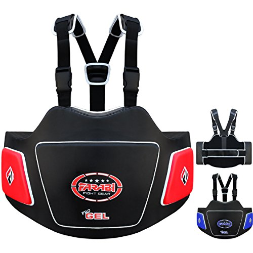 Farabi Body Shield Belly Protector Abdomen Protector Ribs Protector Abdominal Guard Belly Protectio (Red Black) -