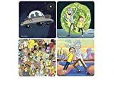 Rick and Morty - Untersetzer 4er Set - Serien Icons