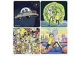 Rick and Morty - Untersetzer 4er Set - Serien Icons