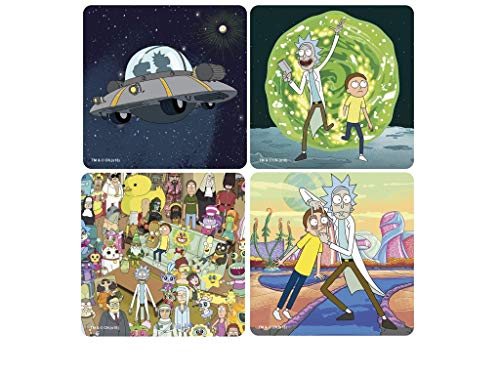 RICK AND MORTY - Set de 4 Posavasos - Serien Íconos