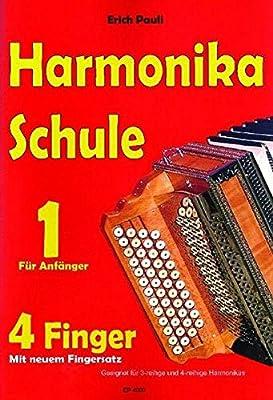 Harmonikaschule für 4 Finger: Notenheft für die Steirische Harmonika mit Begleit-CD