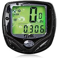 tykusm Kabelloses Fahrrad Kilometerzähler Auto Wakeup Bike Computer speedometer-black