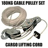 Cable Pulley Set 180 kg Lifting Cord Cargo rope throttle set U115