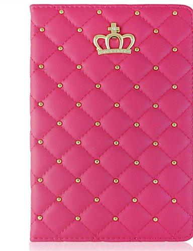 komn Klappstühle Raute Schutzhülle aus PU-Leder mit Standfunktion für iPad mini-1/2/3(verschiedene Farben)–.
