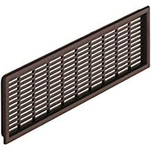 gedotec Puerta de rejilla plástico rejilla de ventilación marrón njs080 – Rectangular – h4123 | 120