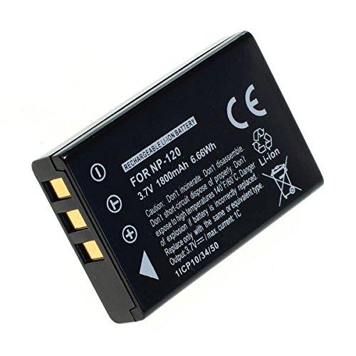 Batteria per ordro hdv-v88 ordro hdv-d320 ordro hdv-p72 ordro hdv-d80s ordro hdv-d325 (1800mah) np-120