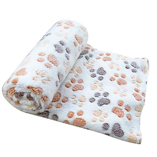 Yiiquan Haustiere Winter Warmem Schlafplatz Decken Dickere Hundekissen Katzenkissen (Beige, Asia L)