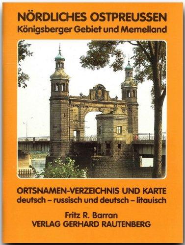 die deutsche karte pdf PDF Ortsnamen Verzeichnis und Karte Nördliches Ostpreußen