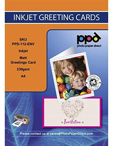 PPD Inkjet Matt Greeting Cards 230gsm