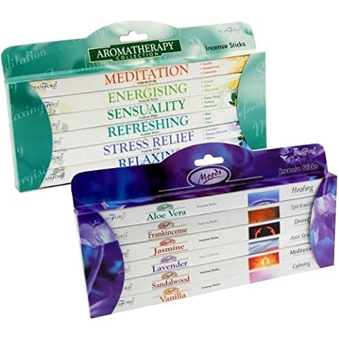 Value Gift Set of 96 Incense Sticks - Moods and Aromatherapy by Stamford