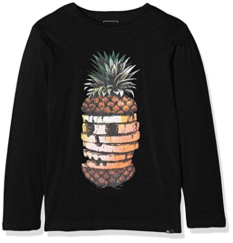 Ls Tee T-shirt (Quiksilver Jungen LS Tee Yth Pineapp Classic Hot Pineapple-Long Sleeve T-Shirt, Anthracite, XS/8)