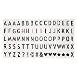 Gaddrt Lettres émoticônes couleur pour A3 A4 A5 cinématique lumière cinématographique cinéma lightbox (A)...