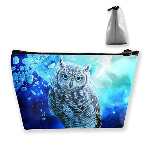 Owl Series Travel Make Up Bags Veranstalter Aufbewahrungstasche Reisezubehör (Owl Hat Männer)