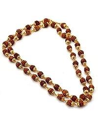 Khushiyan Golden 18kt Rudraksha mala for men/women