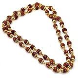 #4: Khushiyan Golden 18kt Rudraksha mala for men/women