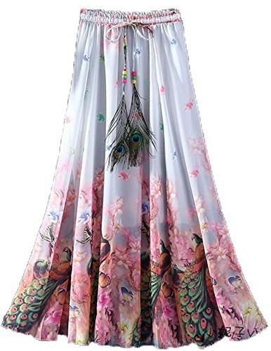 Dheylu Creation Women's Crepe Skirt (Multicolor,X-Large)