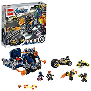 LEGO 76143 Super Heroes Marvel Avengers Truck Take down Playset with Captain America and Hawkeye Minifigures