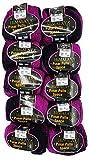 Pinar Pullu Space Pelote de laine à paillettes bicolore 500 g 10 x 50 g, proportion de laine 31% Schwarz Pink 62008