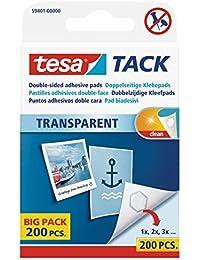 Tesa doble cara almohadillas adhesivas Tack, gran paquete con 200Cápsulas