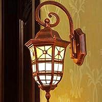 FHK,lampade da parete New-alta qualità luci luci esterne parete impermeabile villa balcone patio con giardino luci del corridoio della lampada balcone corridoio scale luci murali decorativi