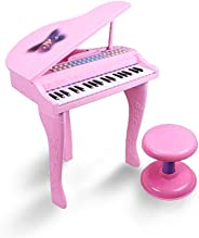 BRIX 37 Keys Electronic Symphonic Piano Keyboard for Kids with Mp3 Plug-in (Pink)