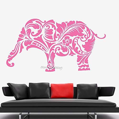 guijiumai Elefante Africa Modello Animale Adesivo murale Decalcomania Rimovibile Home Decor Carta da Parati Stile Unico Vinile Soggiorno Decor Murale L 5 76x42cm