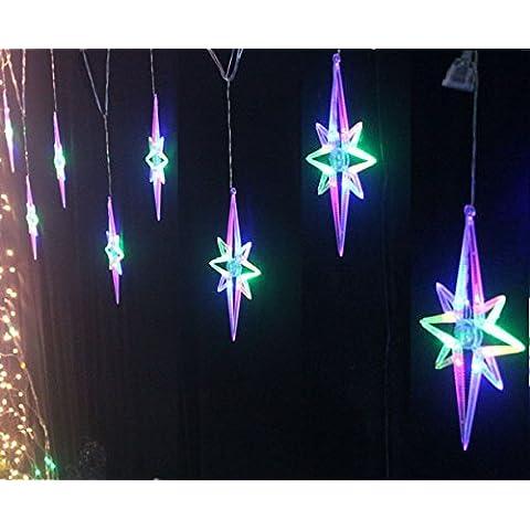 Para Navidad Außenbeleuchtung casas terraza dispositivo LED Weihnachtsbeleuchtung decoración lámparas,Polaris color 8 lámparas.