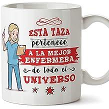 MUGFFINS Enfermera Tazas Originales de café y Desayuno para Regalar a Trabajadores Profesionales - Esta Taza