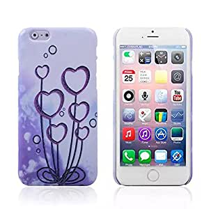 LussoLiv Water Stick PC Shell Love Flower Back Cover For iPhone 6 Plus