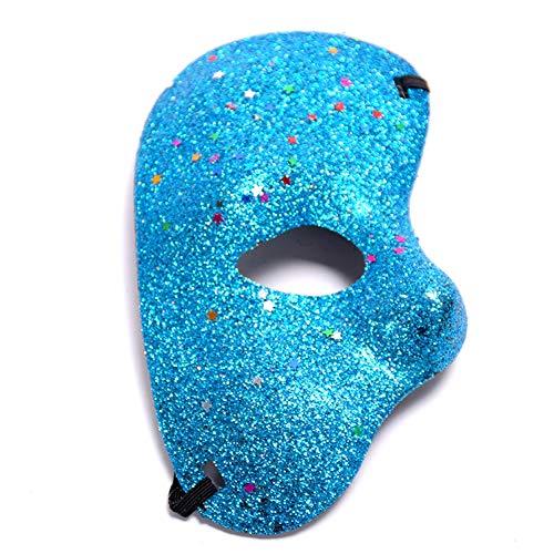 DaoRier Weihnachten Halloween Gold Half Face Maske Masquerade Hochzeit Requisiten Mardi Gras Party Karneval Zubehör, Plastik, B, 10 * 18CM (Masken Für Mardi-gras-party)