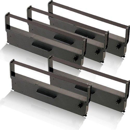 5x kompatibles Farbband - Nylonband schwarz für Epson TMH5000 II TMH5000II TMH5000P TMU590 TMU925 TMU930 II TMU930II TMU950 TMU950P C43 S015369 ERC31 ERC 31 - Epson Farbband Kassette