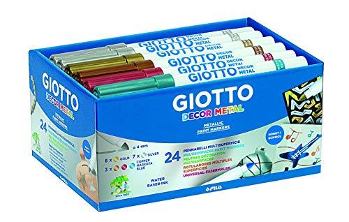 Giotto Decor Metal - Pack 24 rotuladores decorativos