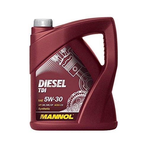 5 L Liter Mannol Diesel TDI 5W-30 Motor-Öl Motoren-Öl; Spezifikationen/Freigaben: SAE 5W-30; API SN/CF; ACEA C3; BMW LL-04; Mercedes Benz MB 229.51; VW 505.01/505.00/502.00; GM Dexos 2