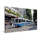 Premium Textil-Leinwand 90 cm x 60 cm quer, Zürich (Schweiz)   Wandbild, Bild auf Keilrahmen,...