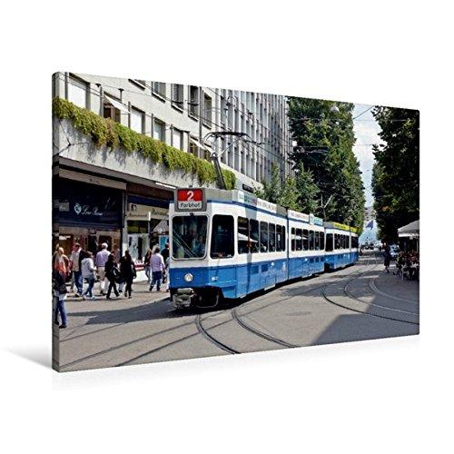 Premium Textil-Leinwand 90 cm x 60 cm quer, Zürich (Schweiz) | Wandbild, Bild auf Keilrahmen,...