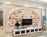 LHDLily 3D Wandbild Tapete Wallpaper Fresken Mural 3D-Tapeten Fliesen Parkett Marmorrelief Tv Hintergrund Wand Wohnzimmer Schlafzimmer Tv Weiche Tasche Wallpaper Für Wände 3D 300cmX200cm
