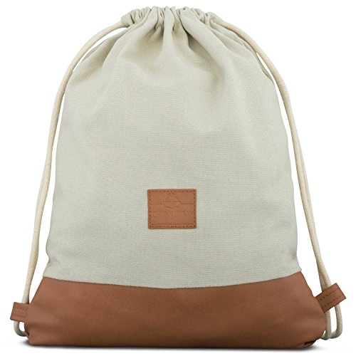 Johnny Urban Sac à Dos Cordon Coton Beige/Marron Sac...