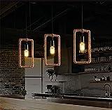 Koalala Retro American Loft Lounge Gastronomie Bar - Cafe Studio Arts Kreative Persönlichkeit Geometrie Sisal 18 * 34 Cm