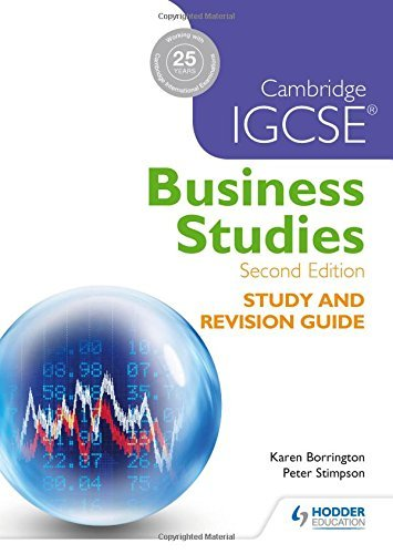 Cambridge IGCSE Business Studies Study and Revision Guide by Karen Borrington (2015-12-25)